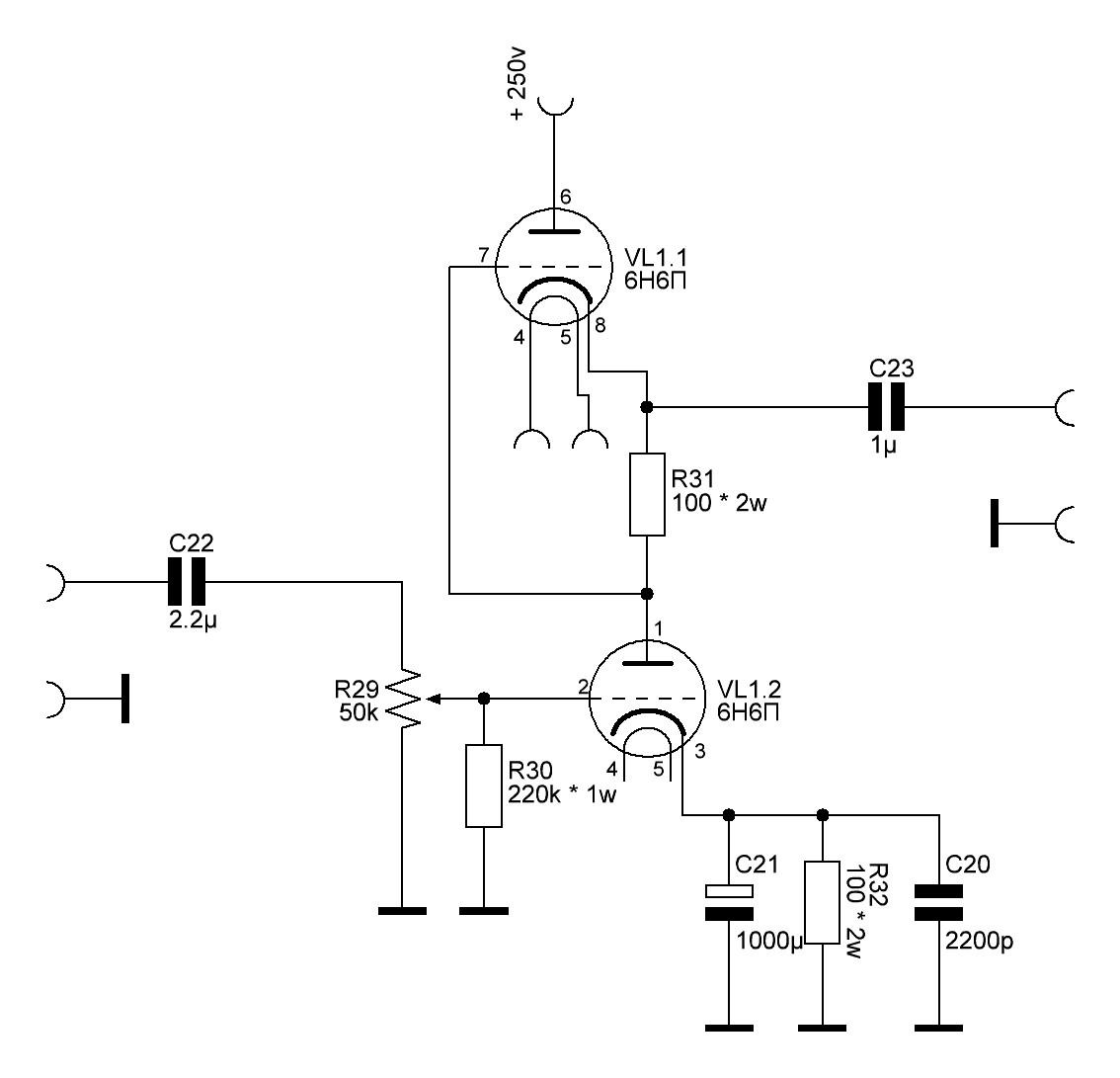 Простой Ламповый Предварительный Усилитель (6Н6П) - Страница 2 ...