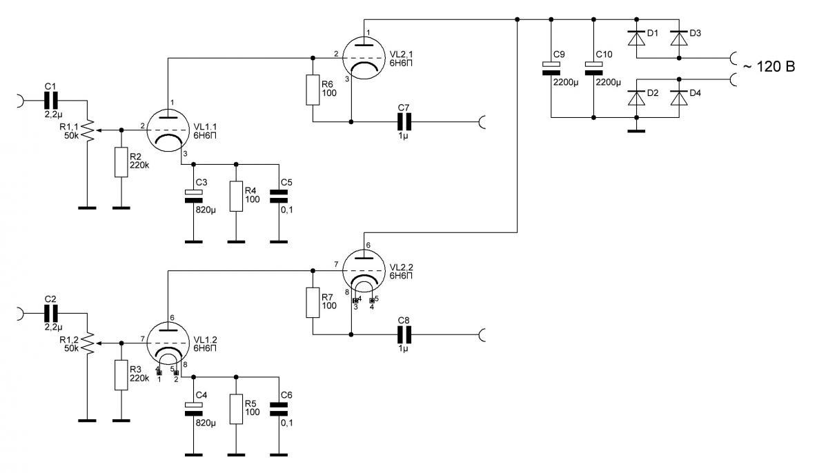 Простой Ламповый Предварительный Усилитель (6Н6П) - Страница 3 ...