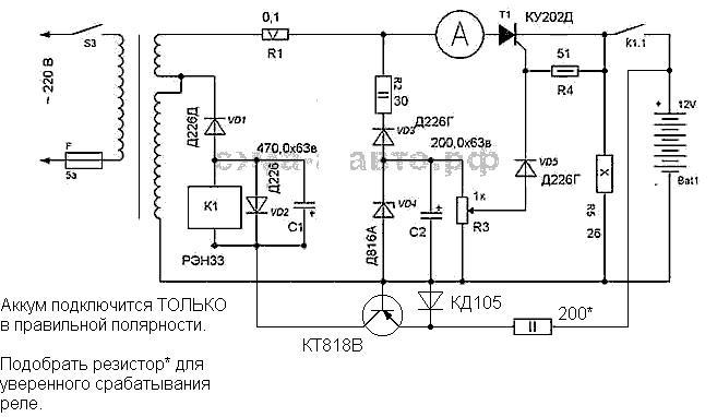 Зарядное устройство с функцией десульфатации своими руками радиокот