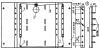 Рис. 1. Кинематическая схема устройства поворота лотков: 1 - задняя стенка инкубатора, 2 - планка для крепления...