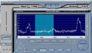 Рис.1. Простой SDR приемник (SDR - software defined radio, PSoC.