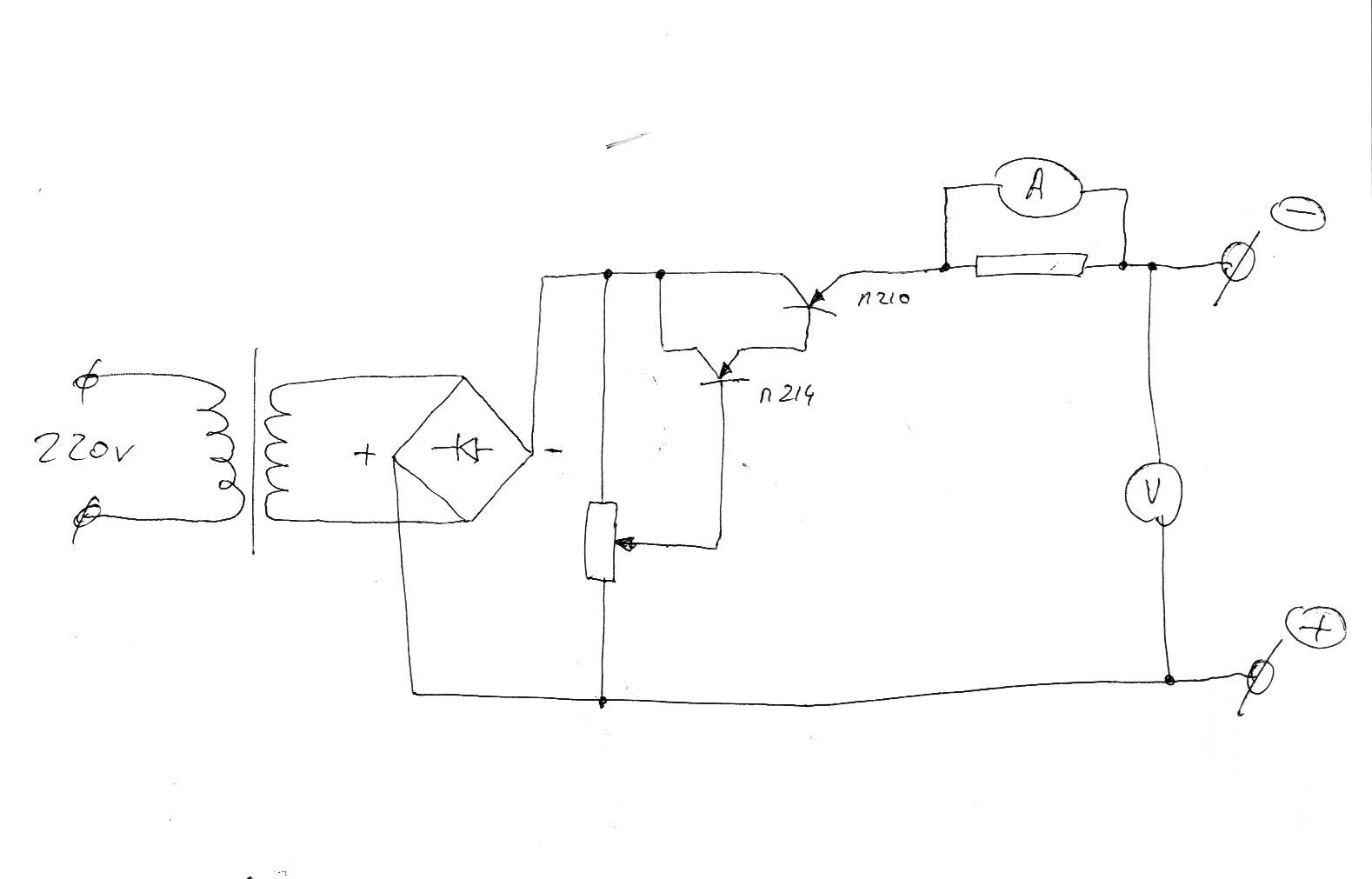 вилка нагрузочная для проверки аккумуляторов схема