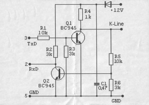 Доброго дня форучане, Решил я собрать KLine адаптер , нашел пару схем...