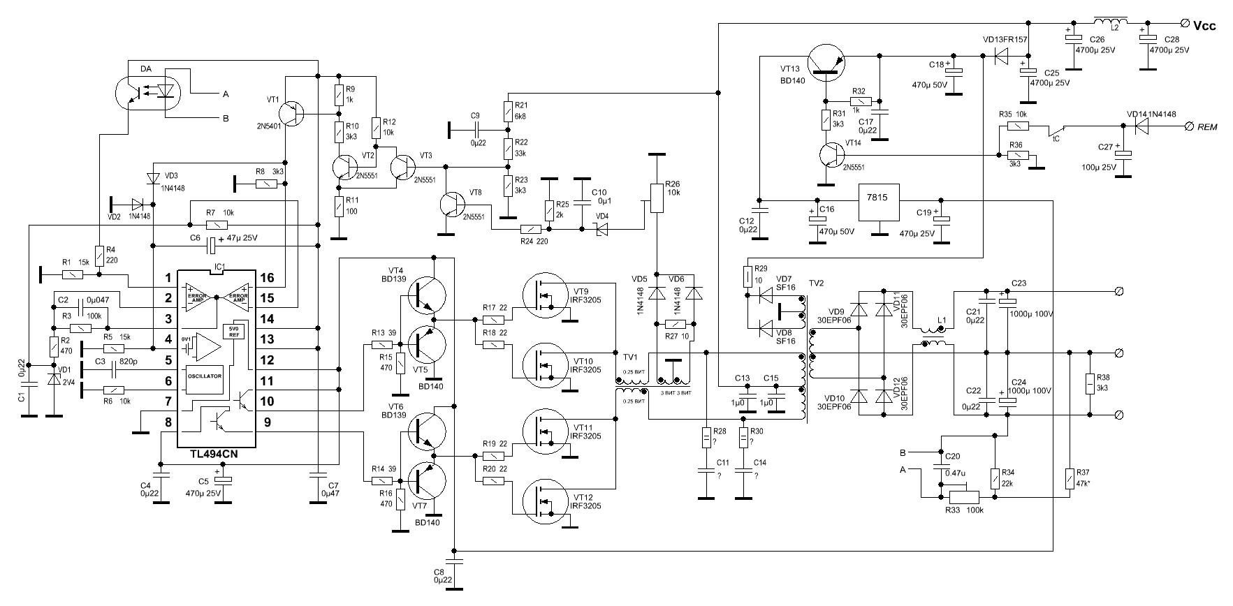 Схема mystery mb 4.400 v2