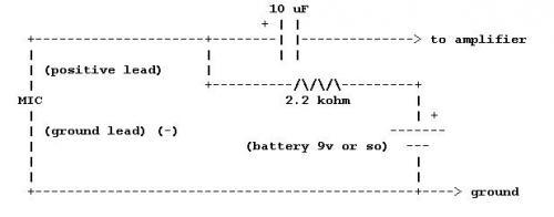 Схема включения электретного микрофона фото 917