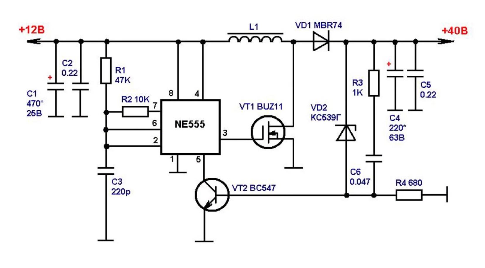 Схема преобразователя напряжения с развязками5