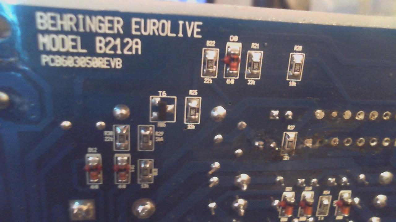 Behringer b215a схема