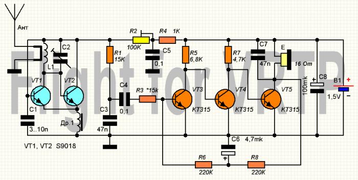 Транзисторный приёмник своими руками