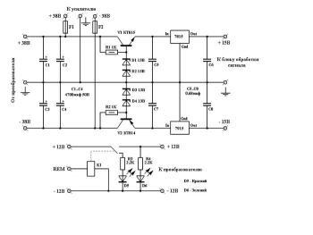 принципиальная схема двухполупериодного выпрямителя со средней точкой