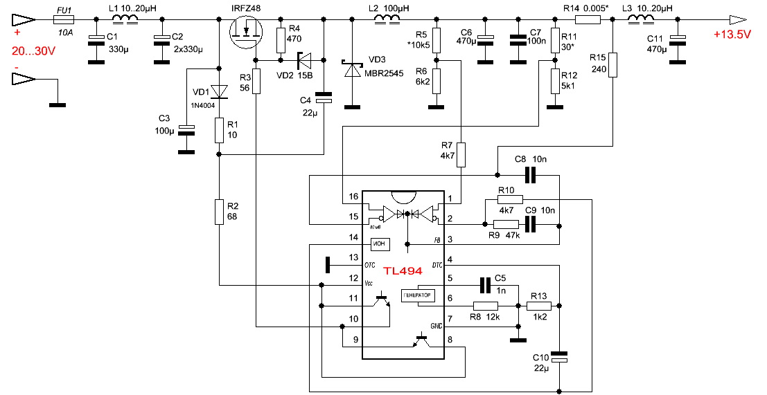 Схемы инверторов 12в 24в