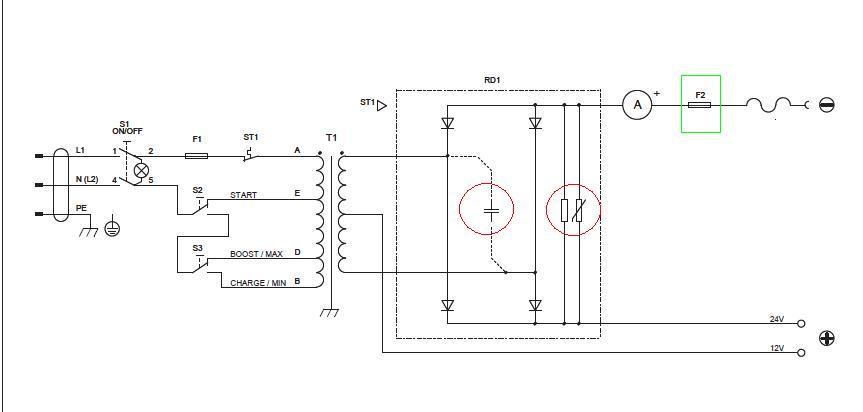 Схема устройства зарядно пускового устройства5