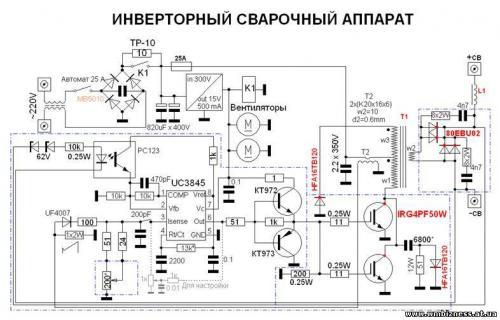 Схемы сварочных инверторов для