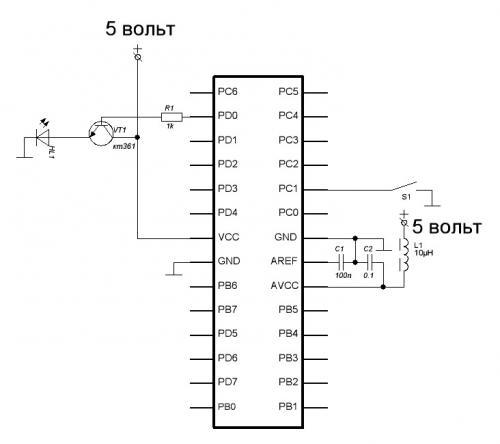 Страница 1 из 2 - Input Порт В Atmega8 - опубликовано в AVR: Вот прошил мк прогой на мигалку, ну мигает..порт D 1...