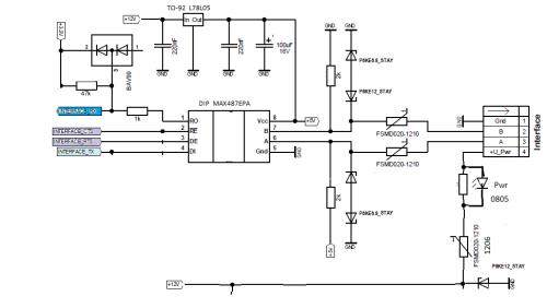Схема включения max487