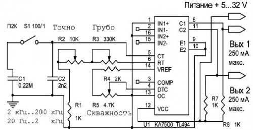 Схему генератора подмотки спидометра