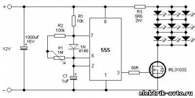 Стробоскоп на светодиодах своими руками, схема Автоэлектрик
