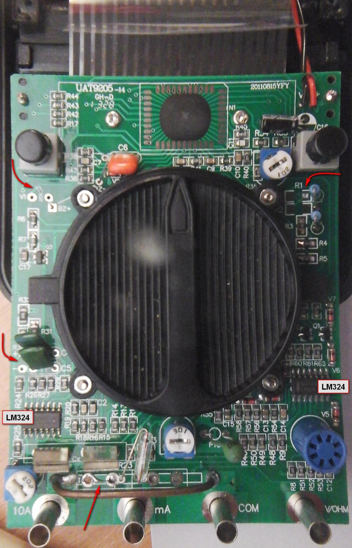 калибровка мультиметра dt9205a