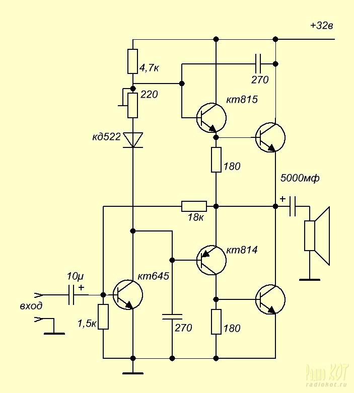 Усилители звука своими руками на транзисторе