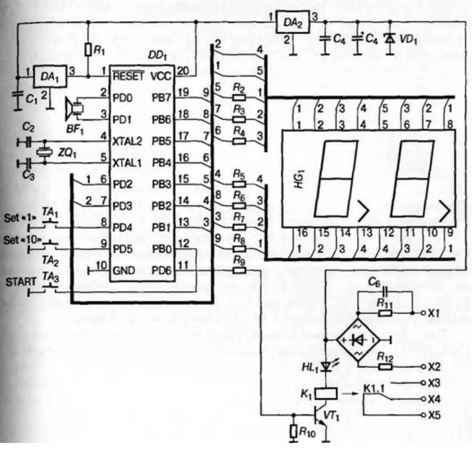 Таймер для кухни на микросхемах с цифровой индикацией своими руками 23