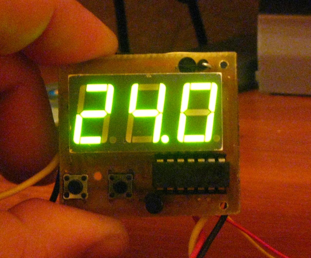 вольтметр один светодиод схема