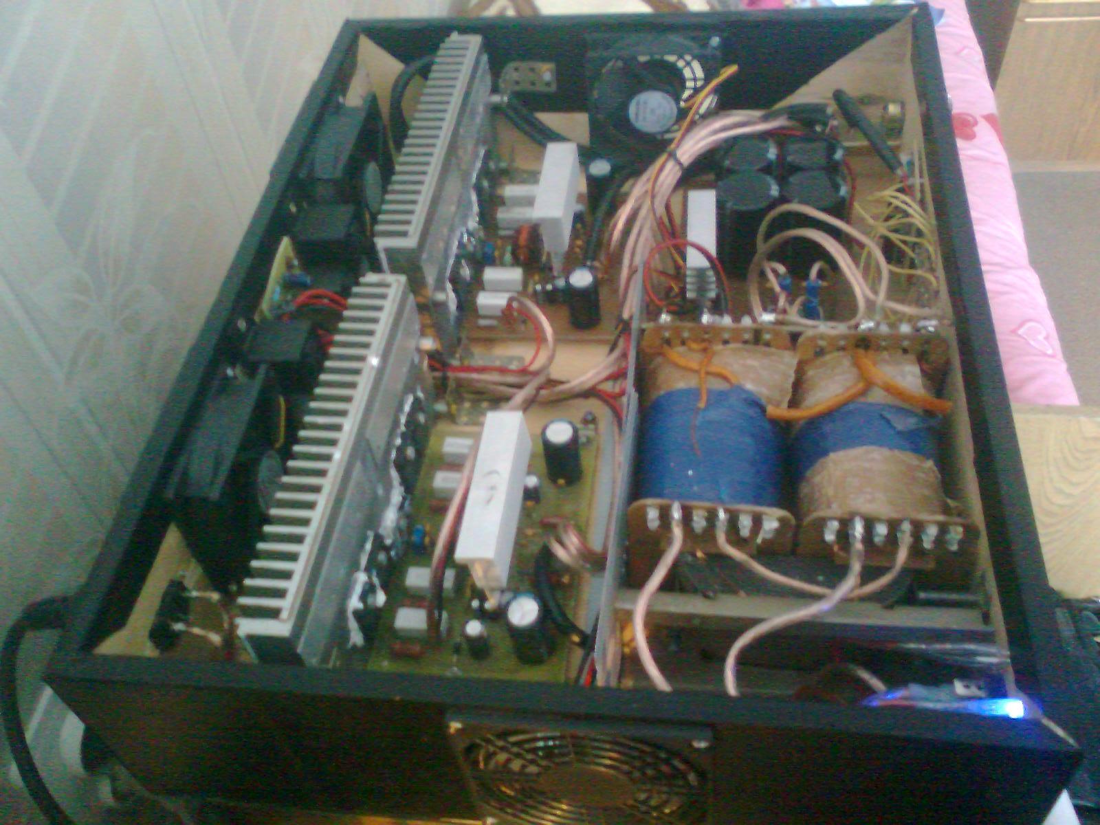 мощный усилитель на транзисторах схема
