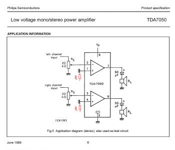 TDA7050 или TDA7050T - стеpеоусилитель с минимумом деталей Пpи 3В на 32 Ома отдаёт 2*35 мВт...