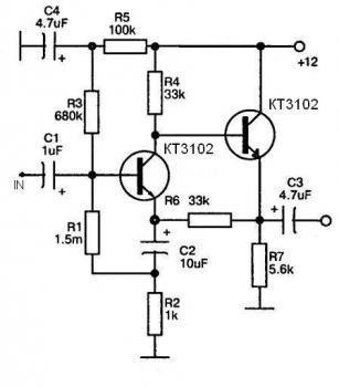 Схемы любительских магнитных усилителей.  Схема мощного трансляционного усилителя.