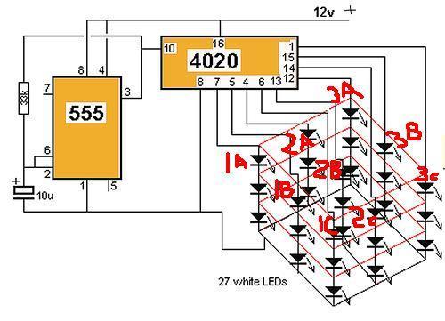 Светодиодный куб 3х3х3 своими руками