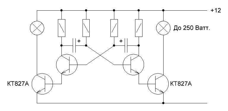 Схема стробоскопов мигалки своими руками на 12в 19