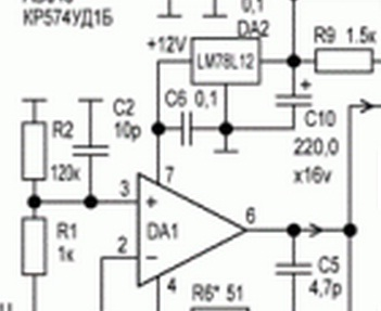 Схема микросхемы уд1а