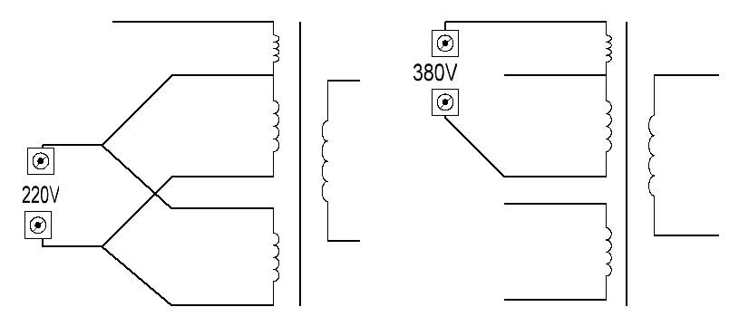 Схема трансформатор 220 на 380
