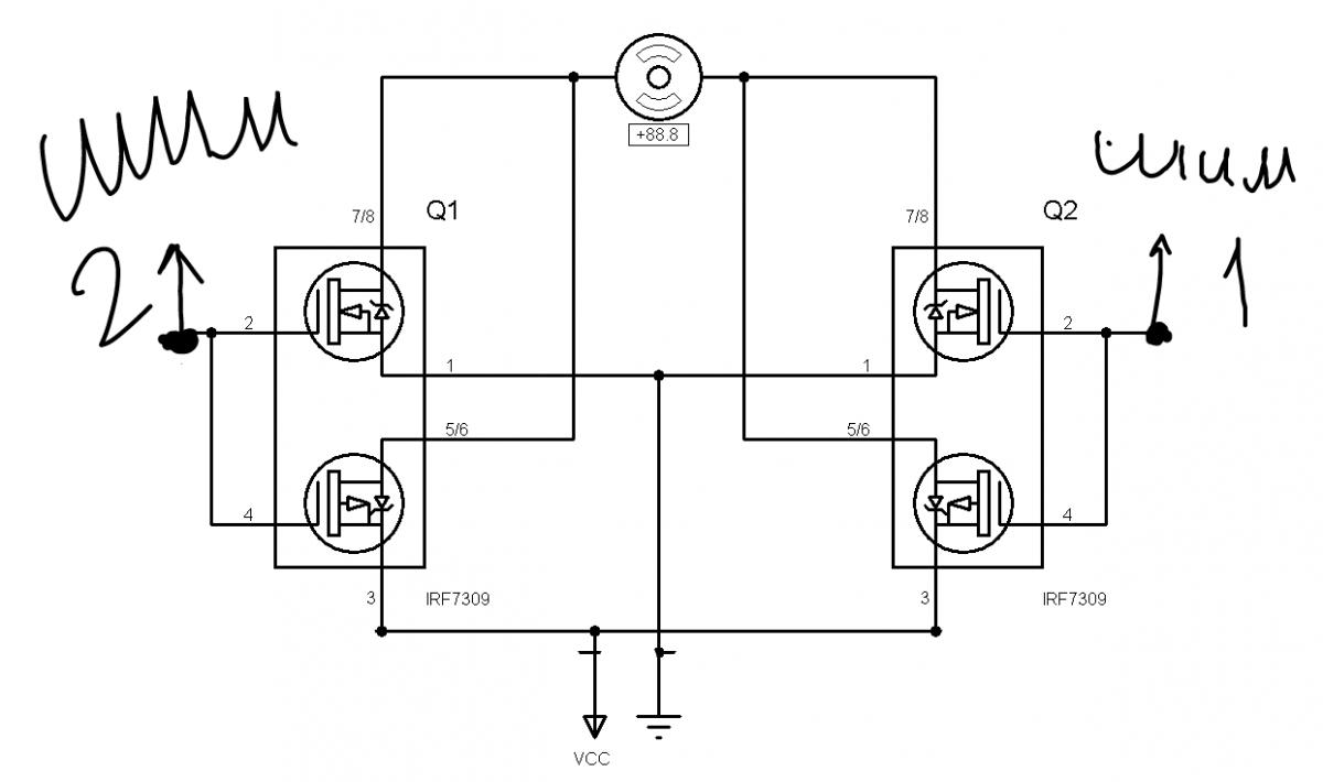 Мост полевых транзисторах схема