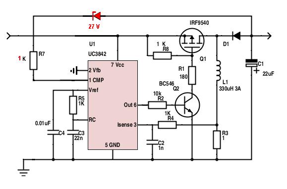 Повышающий Инвертор На Uc3842 - опубликовано в Импульсные блоки питания, инверторы: Приветствую...