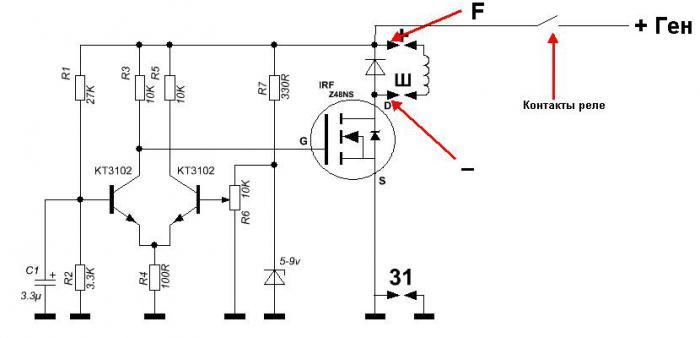Автомобильный регулятор напряжения 12 вольт своими руками