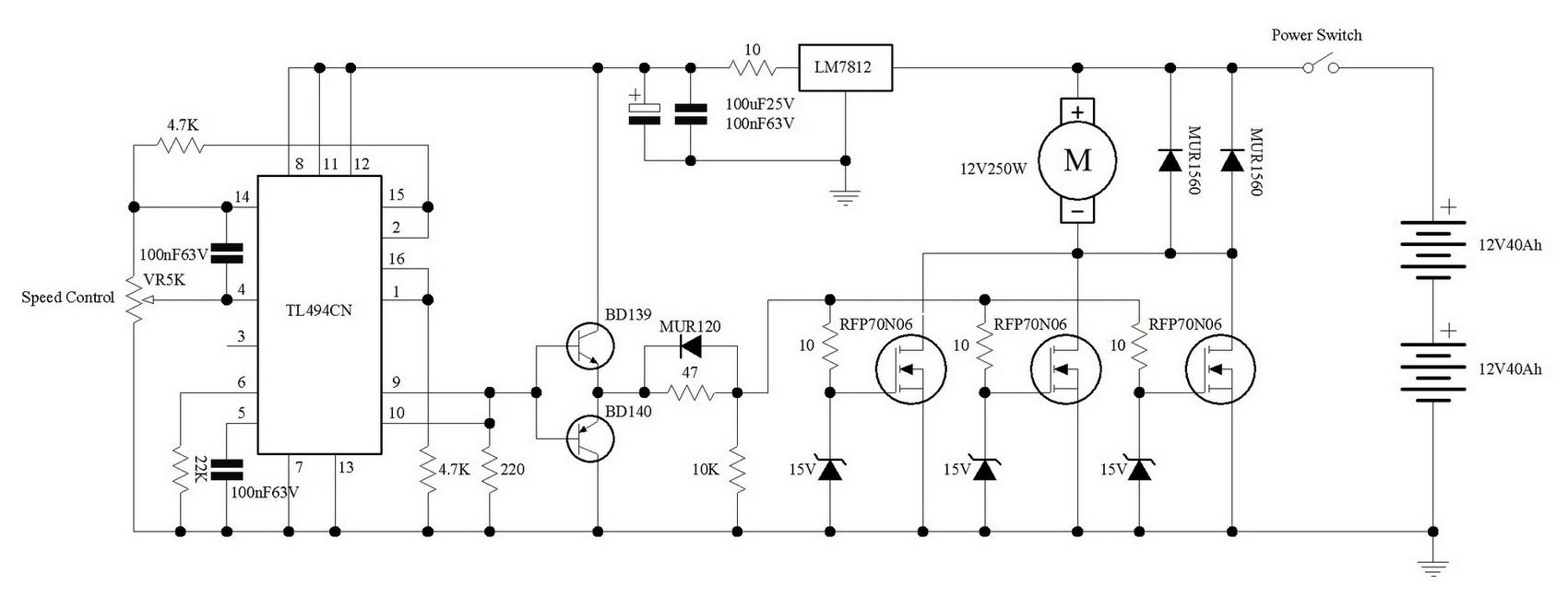 схема шим регулятор электровелосипеда
