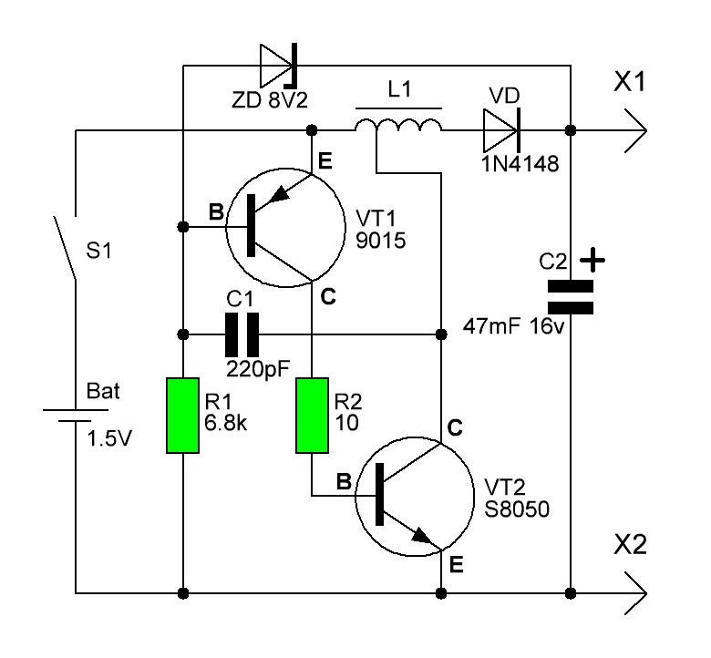 Трансформатор повышения напряжения схема