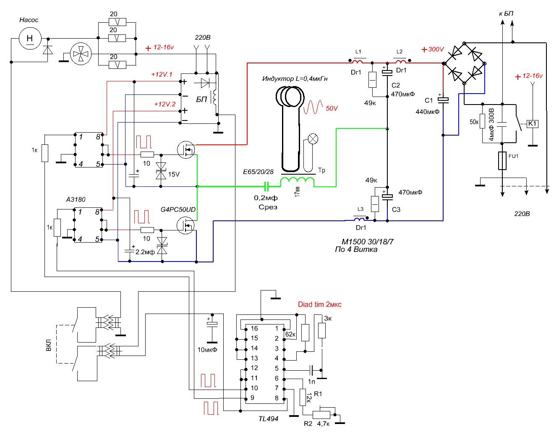 схема индукционного нагревателя на 12 вольт