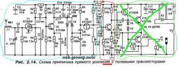 приемник прямого усиления схемы - Исскуство схемотехники.