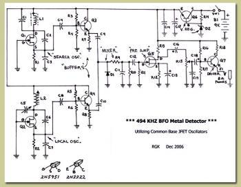 схема метал детектор - Практическая схемотехника.