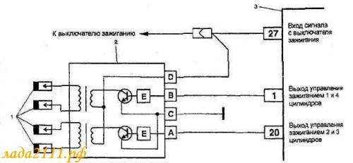 Схема проверки системы зажигания.