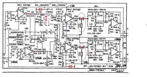 Недостающие ламели переключателя взял из моно-стерео переключателя и лишился монорежима.  На схеме не показано.