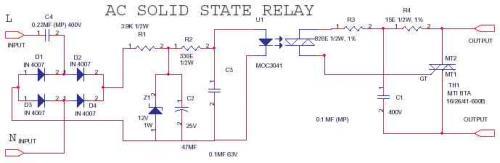 Применение таких радиокомпонентов, как BTA40-600 и MOC3041 делает твердотельное реле очень простым.  Оно...