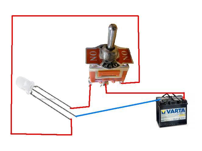 подключение тэна через диод схема