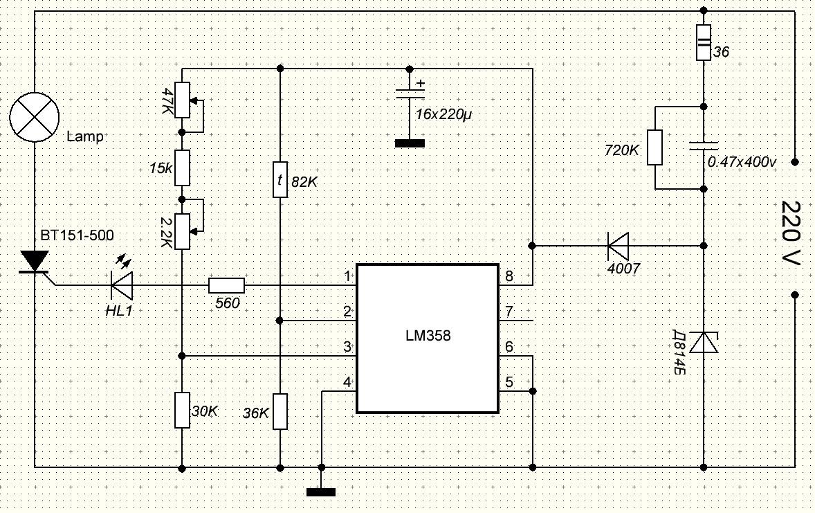 Схема регулятора инкубатор