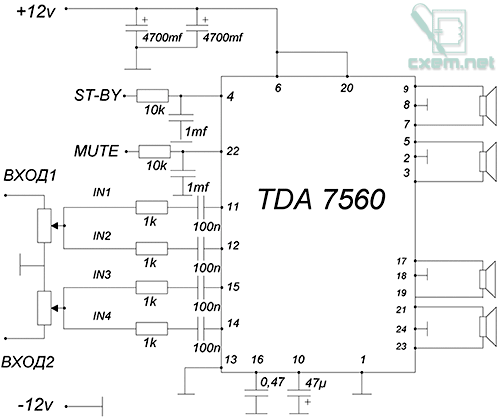 tda7560 плата - Лучшие схемы и описания для всех.