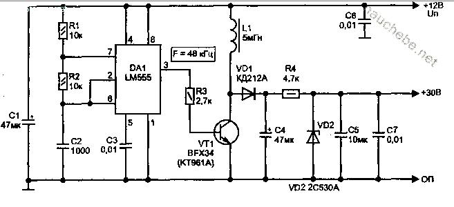 Схема преобразователя 12в 18в