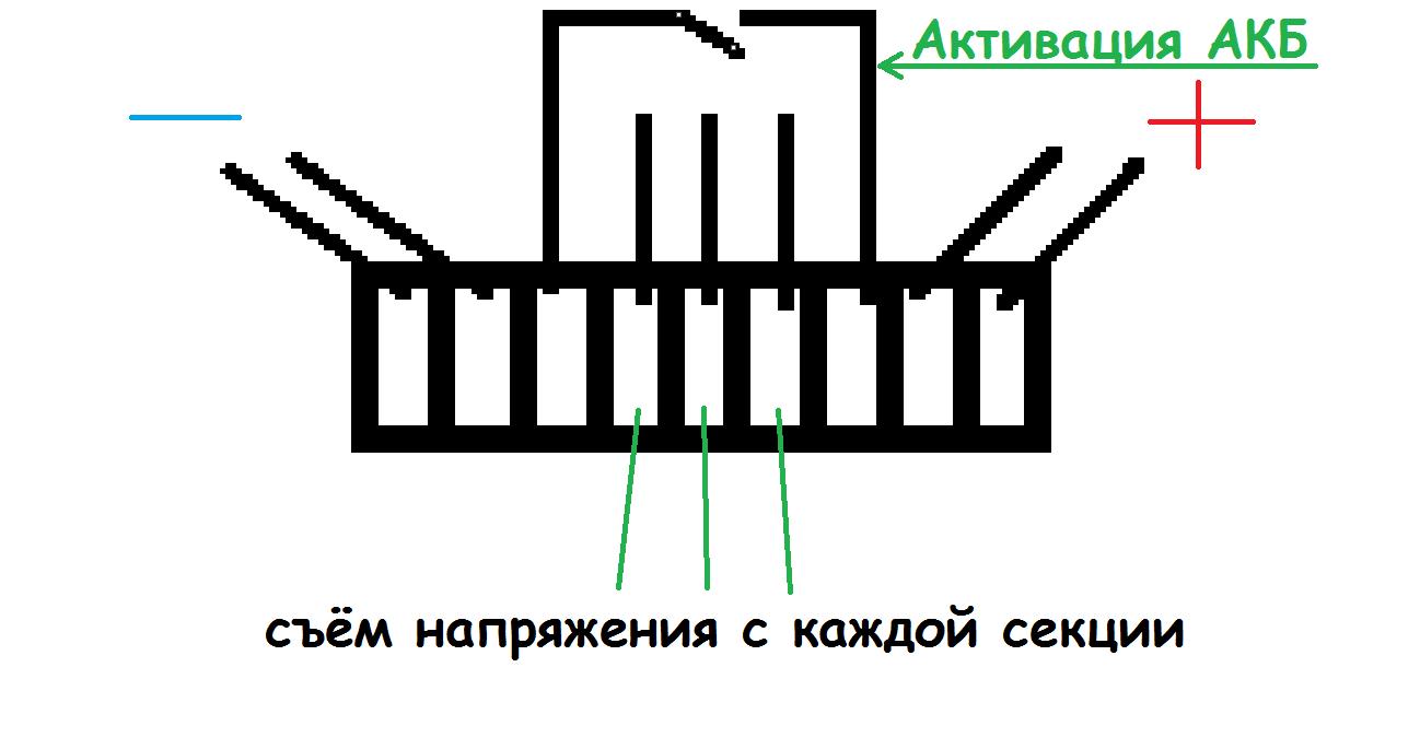 Схема контроллера батарей ноутбука