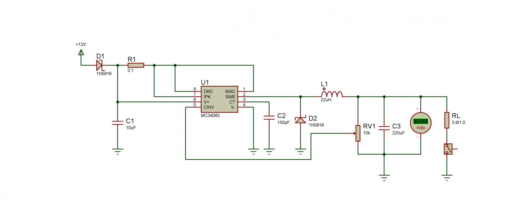 Типовая схема включения мс34063 82