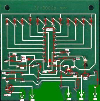 Хочу сделать тахометр на светодиодах.  В Интернете есть куча схем на микросхеме к1003пп1 (аналог UAA180).  Но для.
