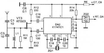 Блин так К174ПС1 запустится на этой частоте.  Схема ВЧ части на 27мгц в аттаче, надо только некоторые детали для 4мгц...